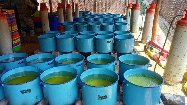 Químicos incautados en Culiacan