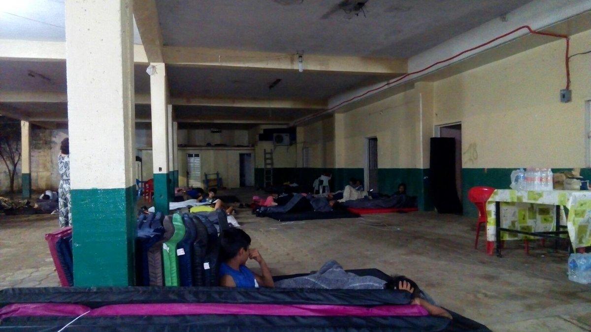 Refugios temporales de Salina Cruz ante la contingencia en la refinería
