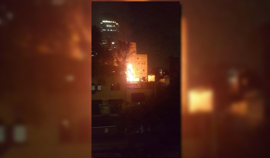 Un restaurante se incendia en la cdmx