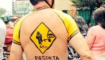 Realizan rodada desnuda en calles de la CDMX