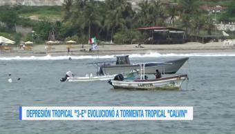forma, tormenta, tropical, Calvin