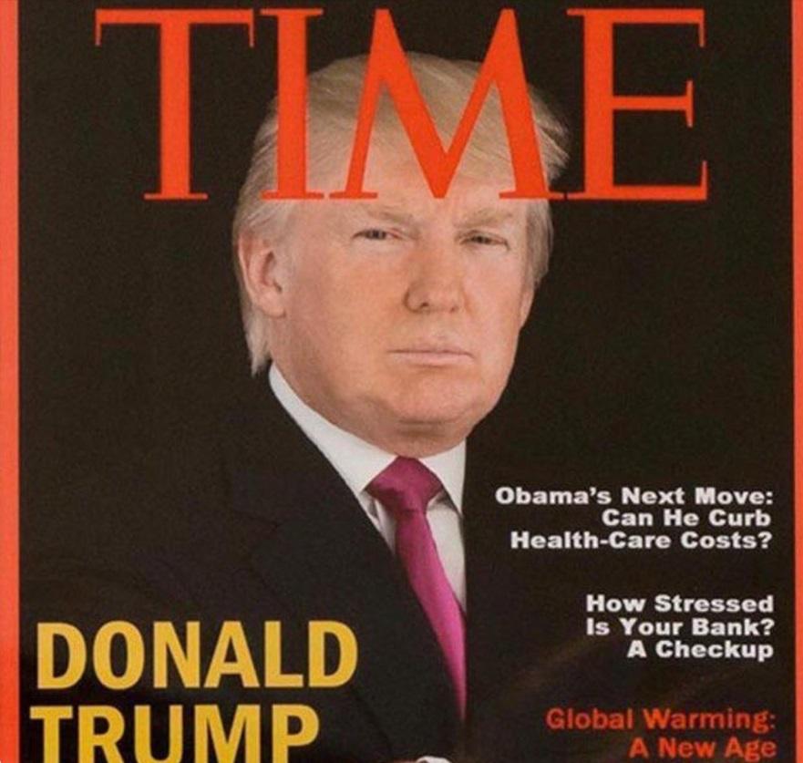 Piden que retiren portadas de revista falsas en clubs de Trump