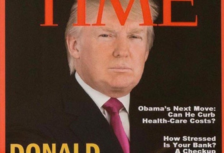 Una portada falsa de la revista Time con la imagen de Donald Trump (Foto: The Washington Post)