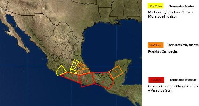 Calvin, Remanentes y afectaciones, Tormenta tropical, Lluvias, Noticias, Noticieros