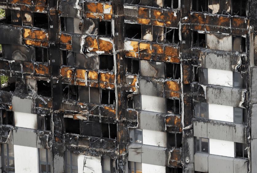 Torre Grenfell de Londres tras incendio
