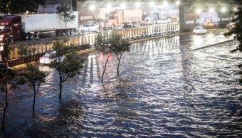 Tromba, lluvia, CDMX, clima, Circuito Interior, Sacmex, Conagua