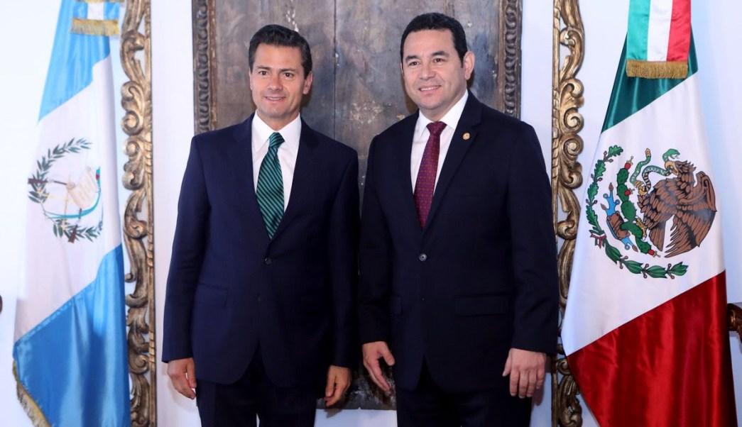 EPN y Jimmy Morales en Guatemala