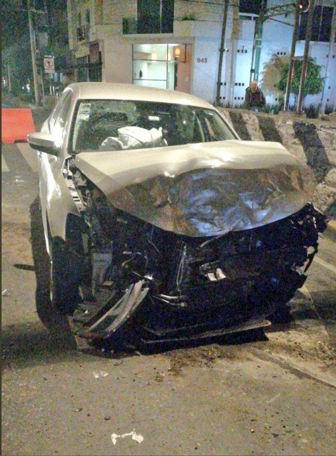 Vehiculo involucrado en choque sobre gabriel mancera