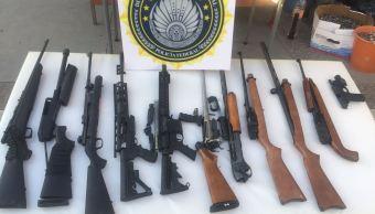 Policía Federal, armamento, cartuchos, seguridad, camioneta, decomisan