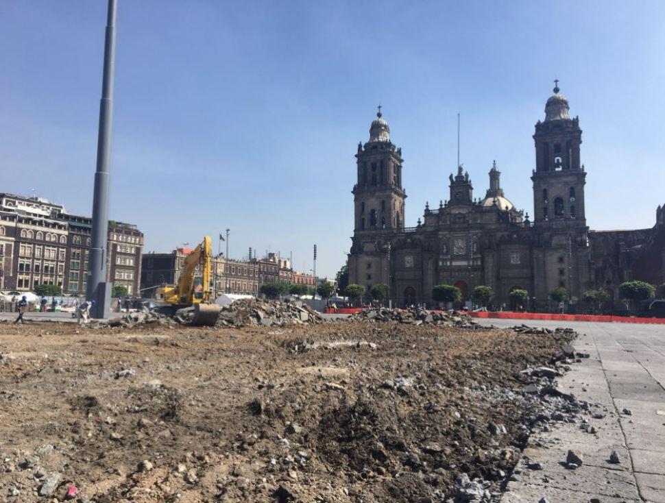 demolición, Plaza de la Constitución, catedral metropolitana