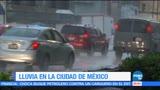Lluvia, ocasiona, encharcamientos, CDMX, Ciudad de México, Precipitaciones
