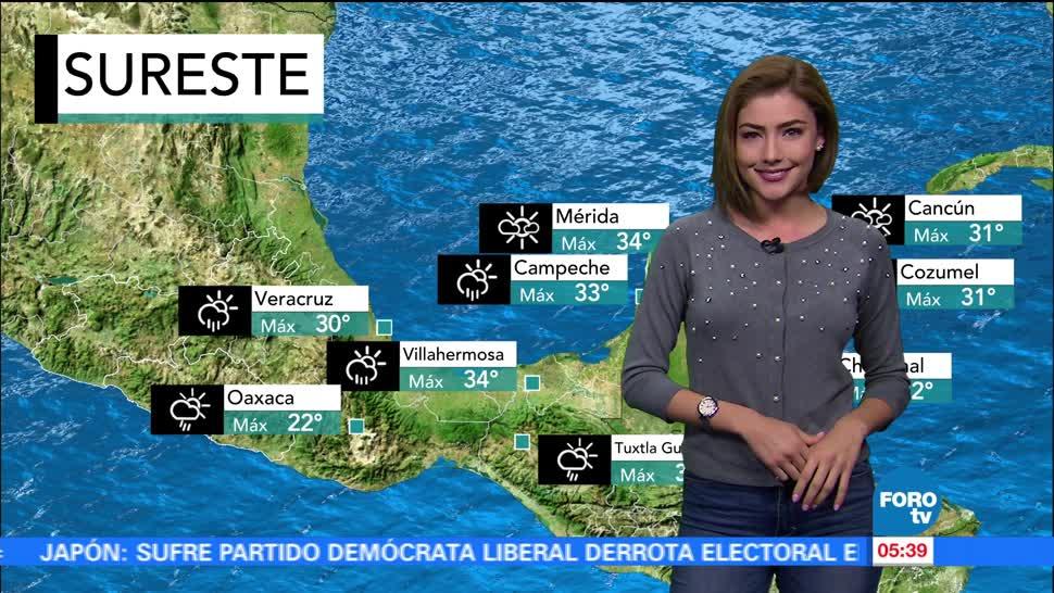 canal de baja presión, onda tropical, lluvias, territorio nacional
