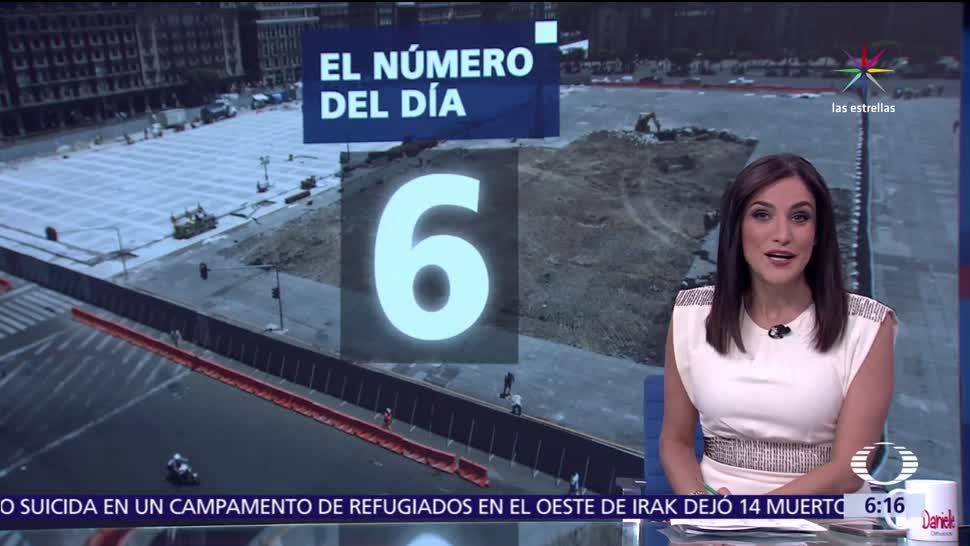 metros cuadrados, concreto hidráulico, plancha del Zócalo, CDMX