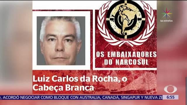 Detienen, Luiz Carlos Da Rocha, alias 'Cabeza Blanca', narcotraficante, Sudamérica