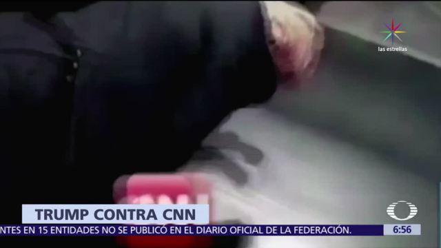 Donald Trump, Twitter, video, logo de CNN