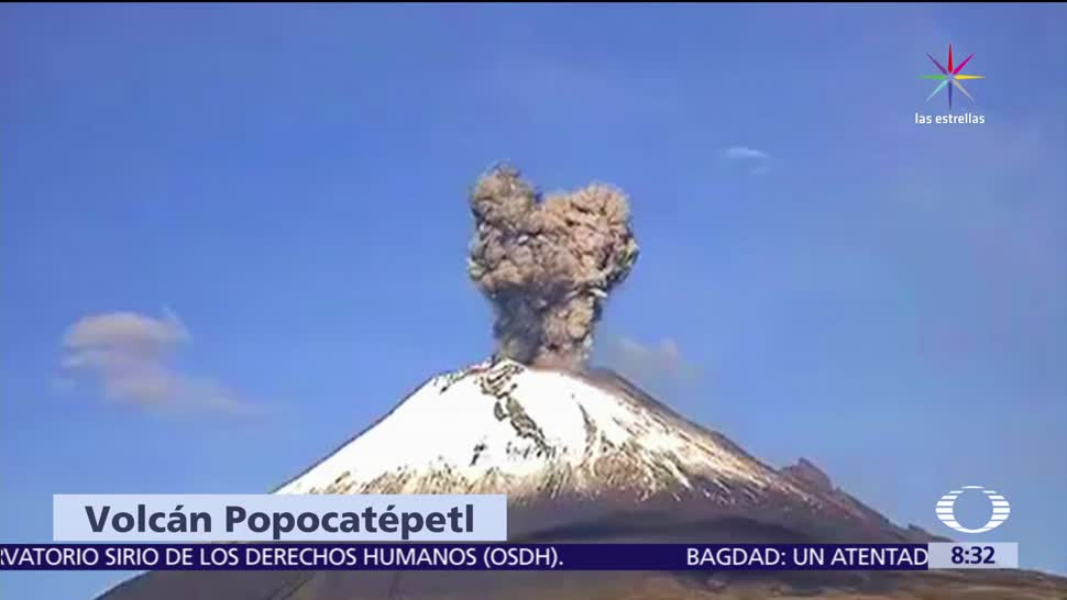 volcán Popocatépetl, explosión, residentes, cubrir nariz, boca