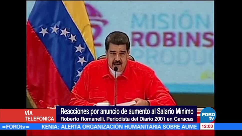 Roberto Romanelli, periodista, coordinador de política, Nicólas Maduro, salario mínimo