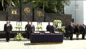 noticias, televisa, Homenaje, agentes federales, abatidos, La Gavia