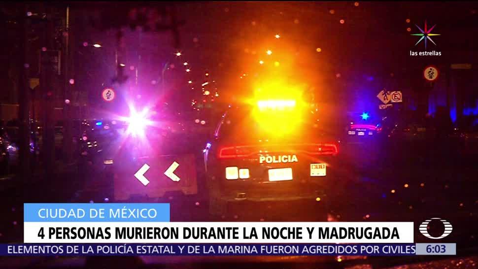 diferentes circunstancias, cuatro personas, Ciudad de México, martes