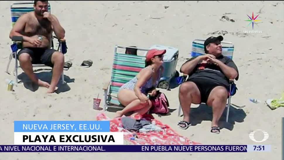 Chris Christie, tomando el sol, playa, cerrar al público, presupuesto