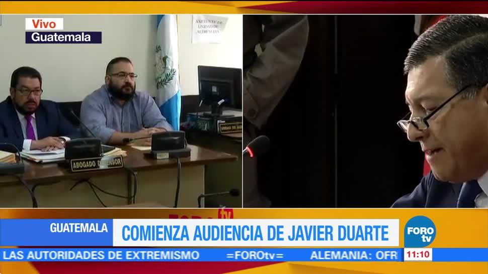 tercera audiencia, exgobernador de Veracruz, Javier Duarte, Torre de Tribunales, Guatemala