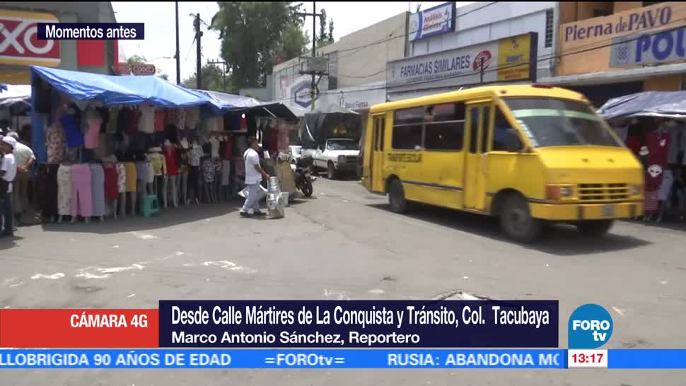 colonia Tacubaya, Muere, asalto