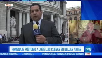 Alistan, Bellas Artes, homenaje póstumo, José Luis Cuevas