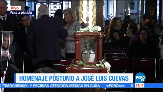 artista plástico, José Luis Cuevas, concluyó, Concluye homenaje