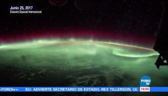 noticis, forotv, Aurora boreal, desde el espacio, Estación Espacial Internacional, Astronautas
