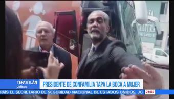 noticias, forotv, Presidente, Consejo Mexicano de la Familia, tapa la boca, mujer