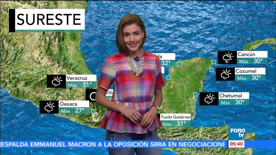 canal de baja presión, República Mexicana, nubosidad, precipitaciones, territorio nacional