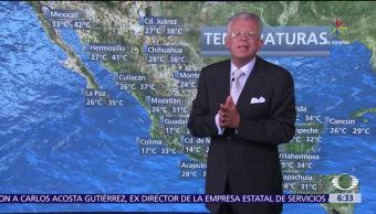 onda tropical, canales de baja presión, lluvias, México