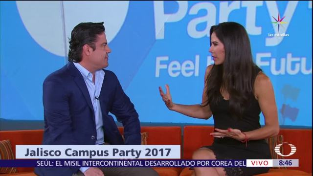 gobernador de Jalisco, Aristóteles Sandoval, Paola Rojas, Campus Party 2017