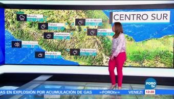 República Mexicana, lluvias, Ciudad de México, temperatura máxima