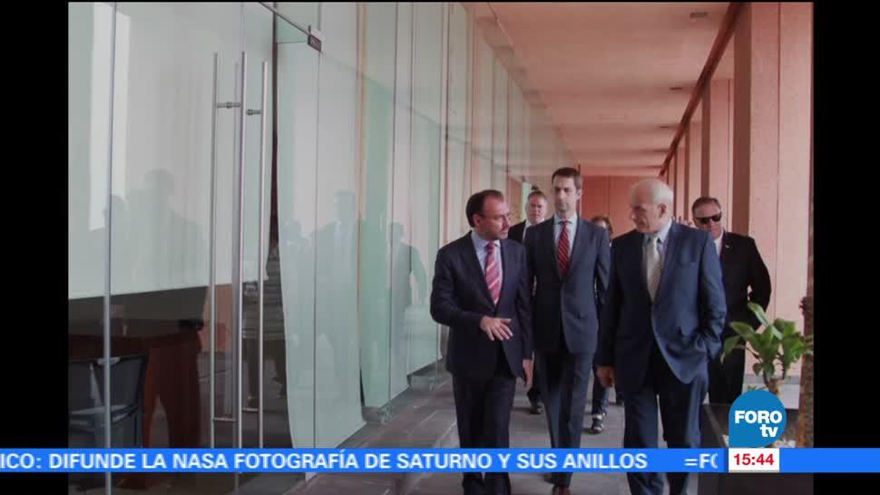 noticias, forotv, John F. Kelly, reúne, Videgaray, secretario de Seguridad Nacional
