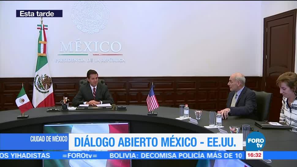 noticias, forotv, Recibe, Peña Nieto, secretario de Seguridad Interna, EU
