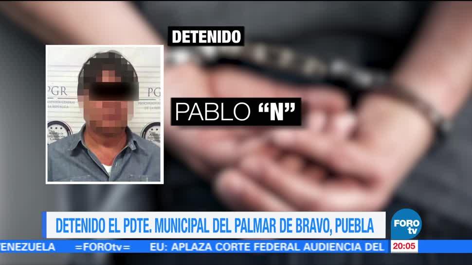 Detienen, presidente municipal, Palmar Bravo, Puebla, Pablo Moral, robo gasolina