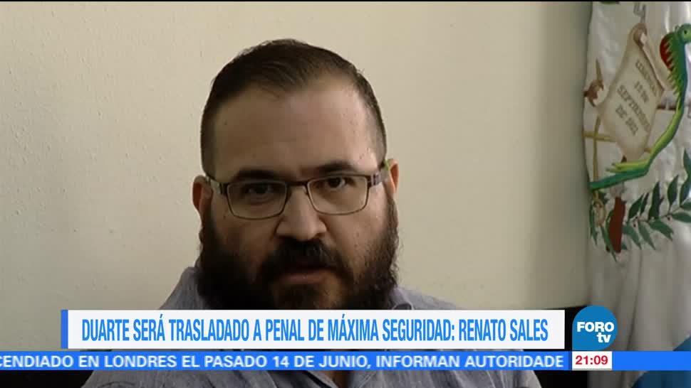 Duarte, trasladado, penal, máxima seguridad, renato, sales