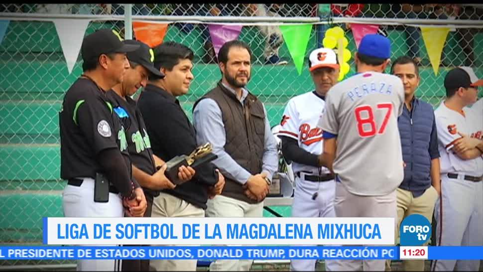 Eduardo Saint Martin, inauguración, liga de softbol, Magdalena Mixhuca
