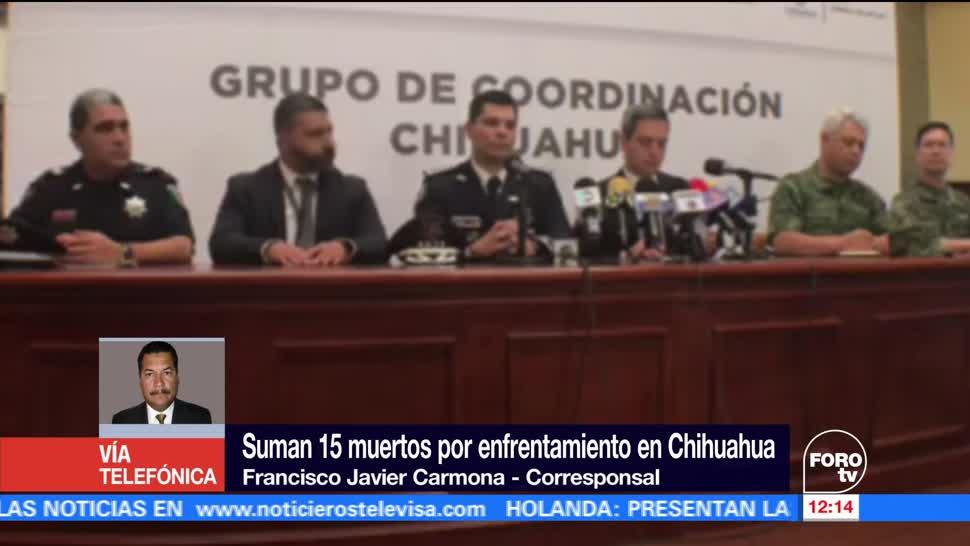 Grupo de Coordinación Chihuahua, decomisaron armas, vehículos, enfrentamiento