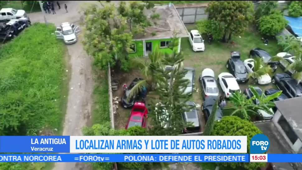 noticias, forotv, Aseguran, armas, lote de autos, Veracruz