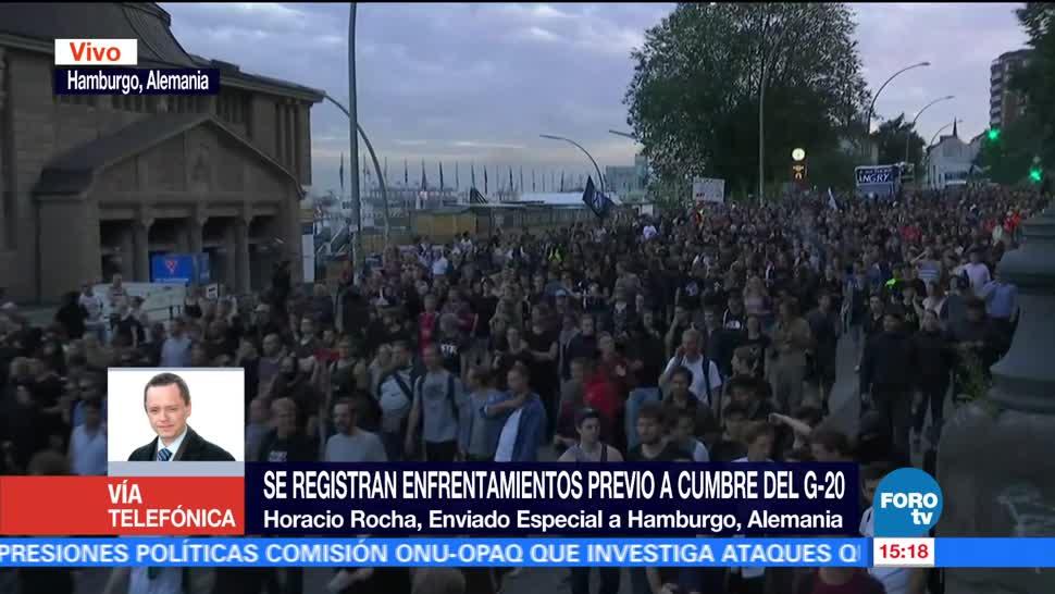 noticias, forotv, Enfrentamientos, protestas, previas al G-20, Hamburgo