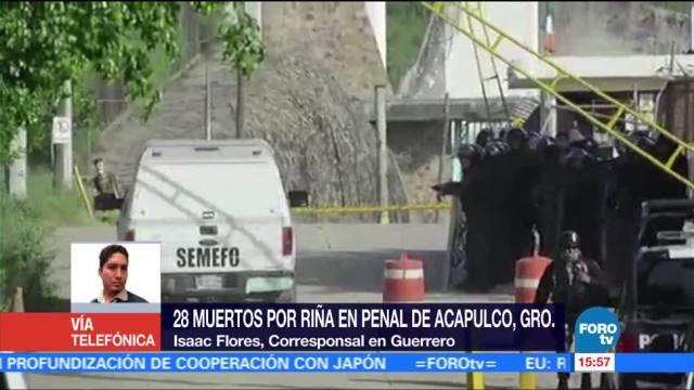 noticias, forotv, Confirman, 28 muertos, riña en penal, Acapulco