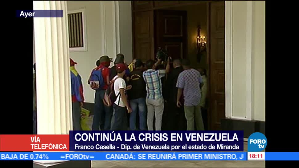 noticias, forotv, ataque al Parlamento, sigue la lucha, Venezuela, Franco Casella