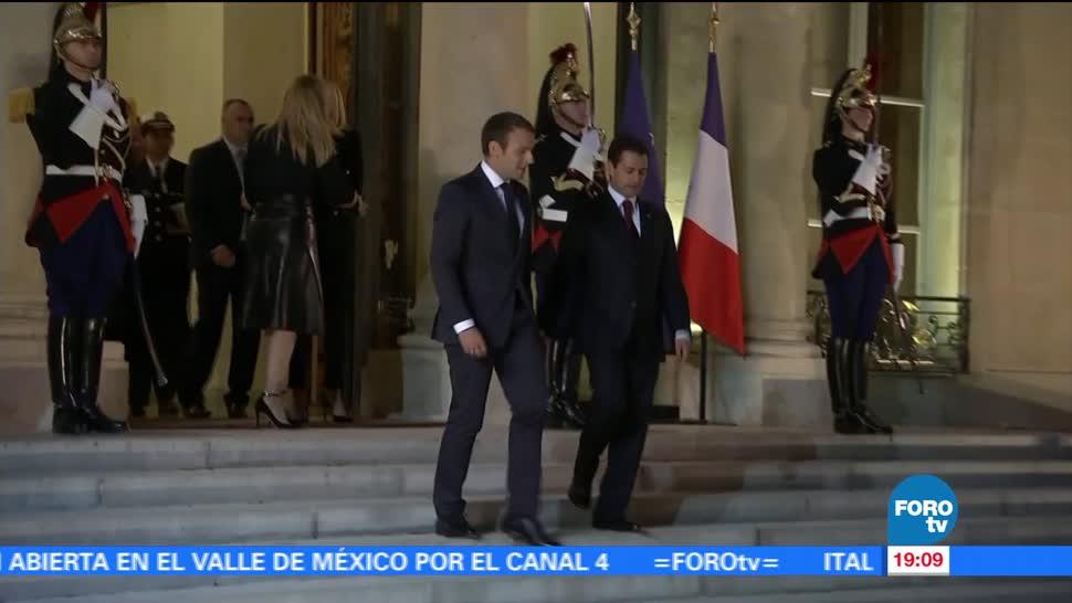 noticias, forotv, EPN, Macron, acuerdan fortalecer, relación México-Francia