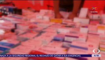 Venden medicamentos, caducos o robados, tianguis del norte de la CDMX