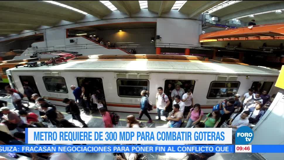 Extra Extra, Metro requiere, 300 mdp, combatir goteras