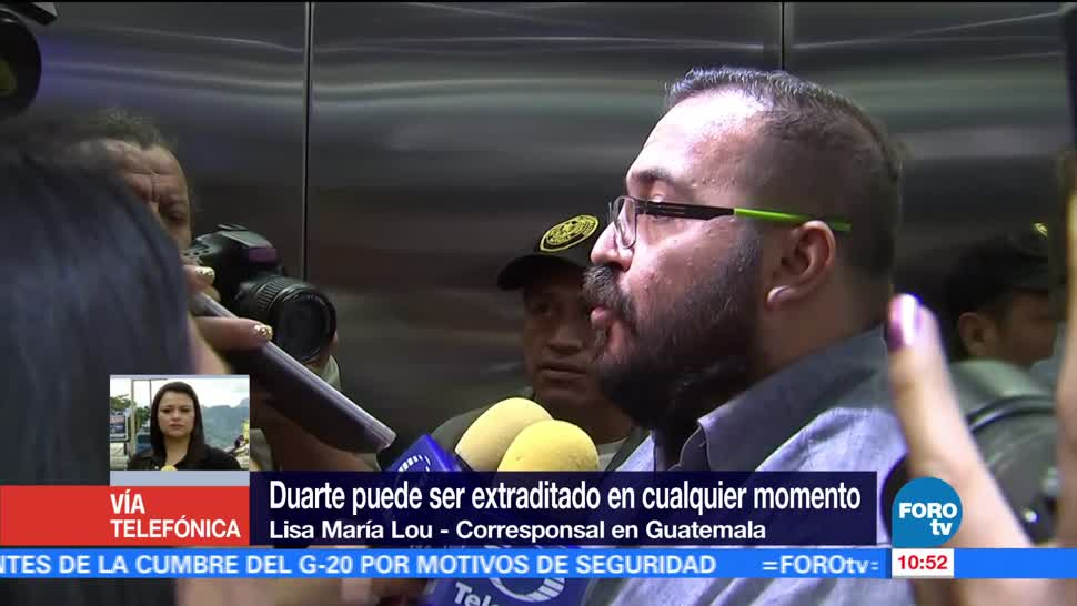 Javier Duarte, ser extraditado, cualquier momento, México