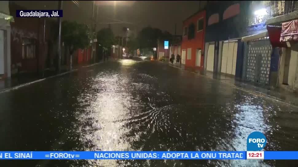 Lluvia intensa, zona metropolitana, Guadalajara