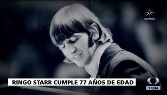 notiias, televisa, Ringo Starr, cumple 77 años, baterista, cantante